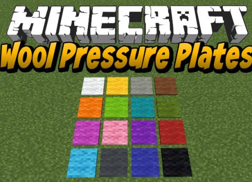 Wool Pressure Plates Mod for Minecraft