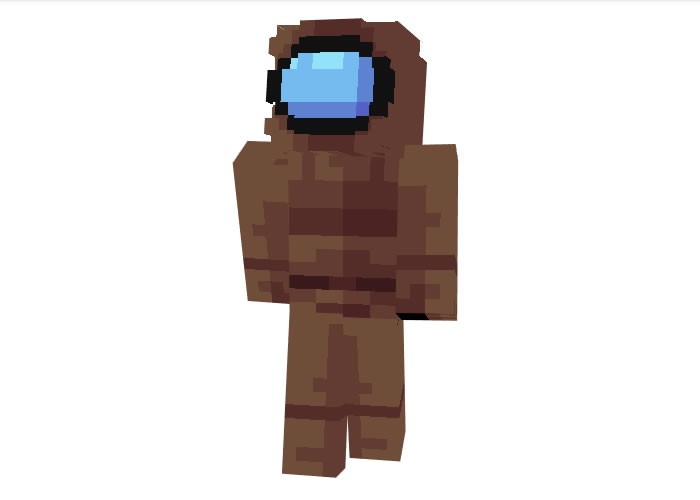 Among Us Brown Crewmate Skin for Minecraft