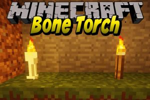 Bone Torch Mod for Minecraft