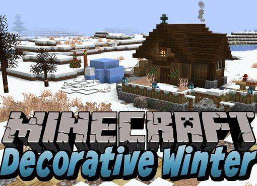 Decorative Winter Mod for Minecraft