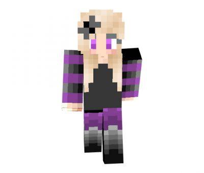 Gothic Purple Skin for Minecraft Girls