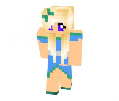 New Years Girl Skin for Minecraft