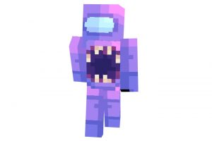 Among Us Impostor Purple Skin for Minecraft