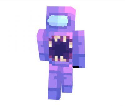 Among Us Impostor Purple Skin for Minecraft