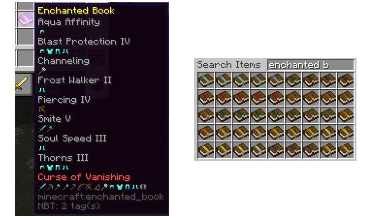Better Enchanted Books Mod Screenshots