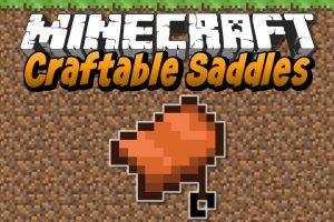 Craftable Saddles Mod for Minecraft