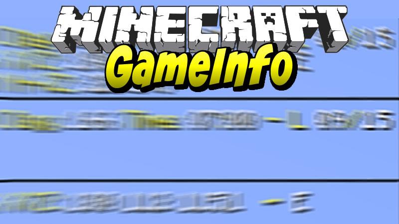 GameInfo Mod for Minecraft