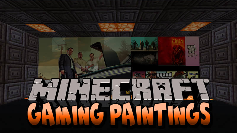 Gaming Paintings Mod for Minecraft