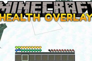 Health Overlay Mod for Minecraft