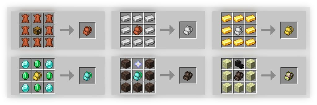Inmis Mod Crafting Recipes