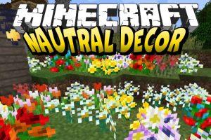 Nautral Decor Mod for Minecraft