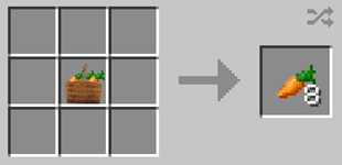 Repurpose Mod Carrot Bunch to Carrots Crafting Recipe