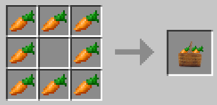 Repurpose Mod Carrots to Bunch Crafting Recipe