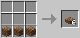 Repurpose Mod Dirt Slab Crafting Recipe