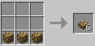 Repurpose Mod Glowstone Slab Crafting Recipe