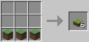 Repurpose Mod Grass Slab Crafting Recipe