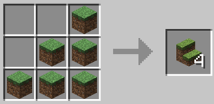 Repurpose Mod Grass Stairs Crafting Recipe