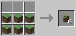 Repurpose Mod Grass Wall Crafting Recipe