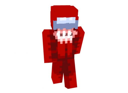 Among Us Red Impostor Skin for Minecraft