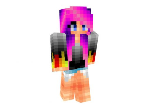 Dubstep Skin for Minecraft Girl