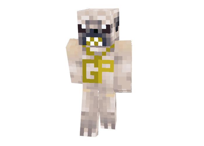 Gangsta Pug skin for Minecraft