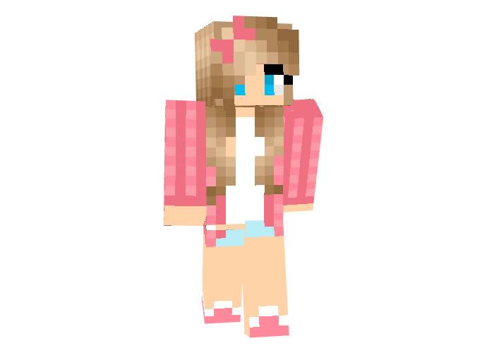 Luzmila skin for Minecraft girl
