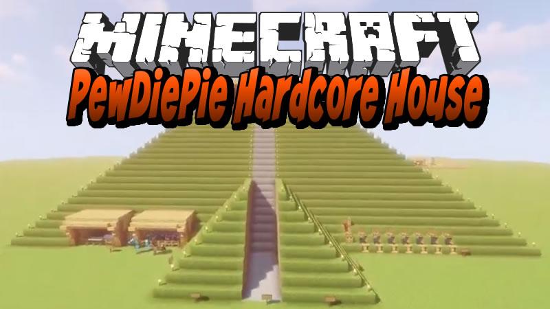PewDiePie Hardcore House Map for Minecraft