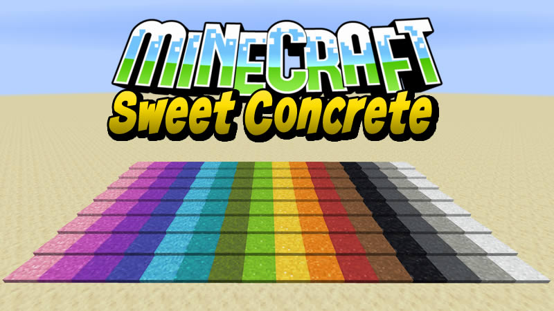 Sweet Concrete Mod for Minecraft