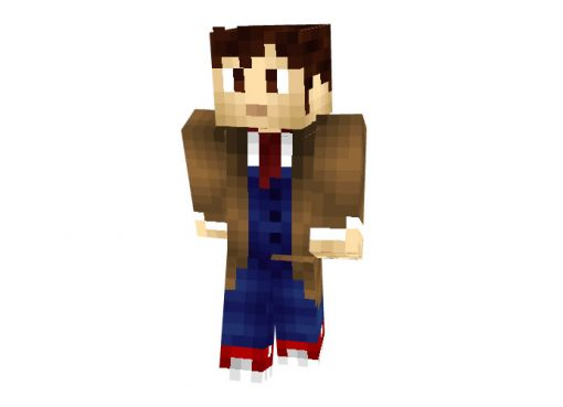 Tenth Doctor (Doctor Who) Skin for Minecraft