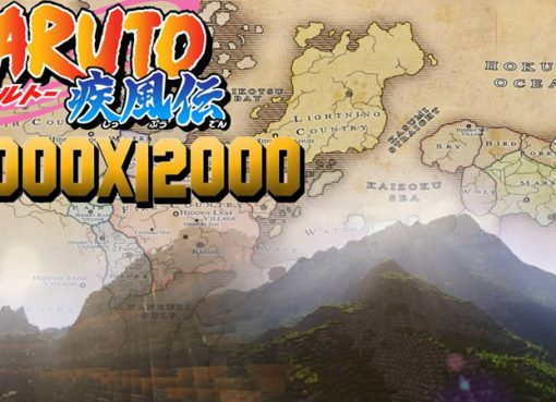 The World of Naruto Map for Minecraft