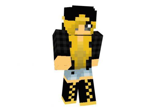 Blonde Batgerl skin for Minecraft girls