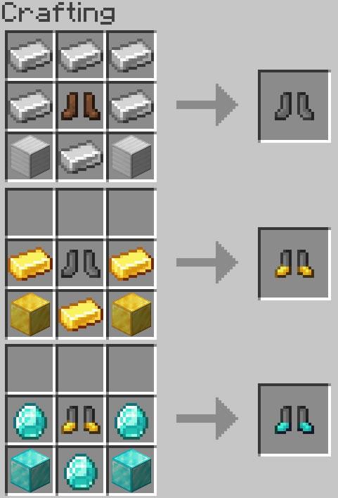 BootZ Mod Crafting Recipes
