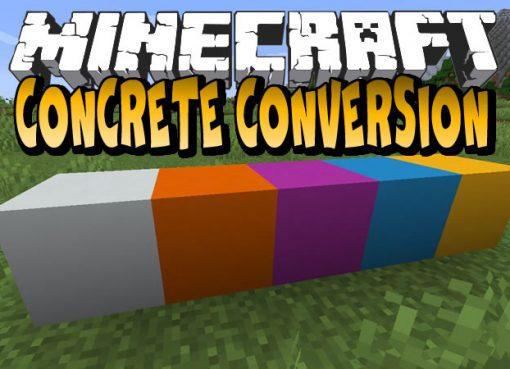 Concrete Conversion Mod for Minecraft