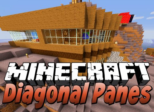 Diagonal Panes Mod for Minecraft