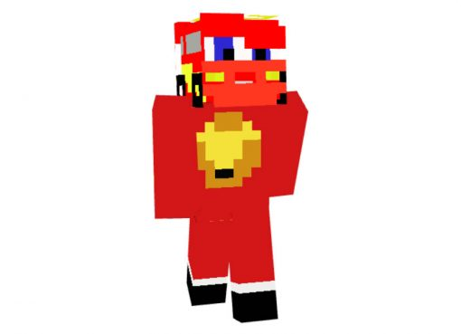 Lightning McQueen Skin for Minecraft