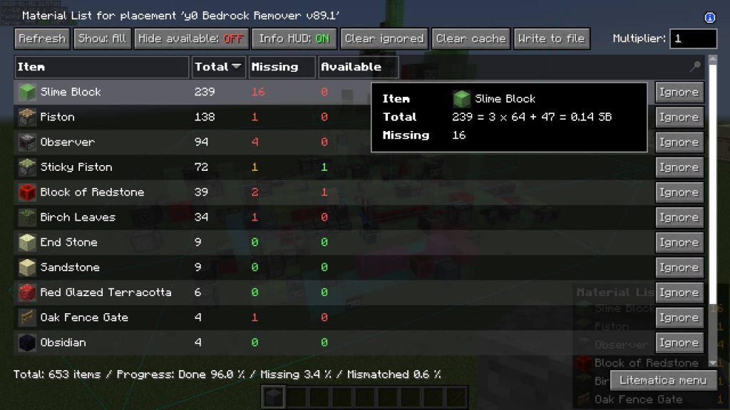 Litematica Mod Screenshot 4