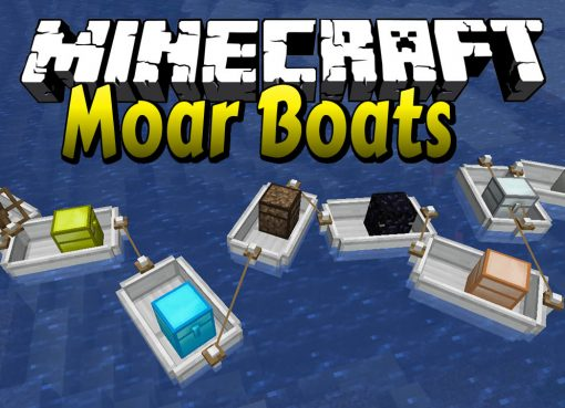 Moar Boats Mod for Minecraft