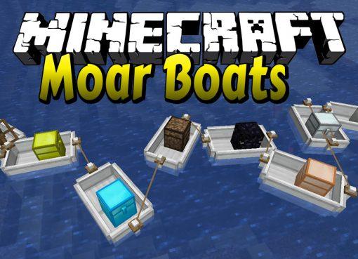 Moar Boats Mod for Minecraft