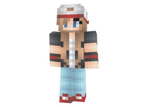Pokemon Trainer Girl Skin for Minecraft Game