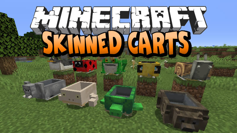 Skinned Carts Mod for Minecraft