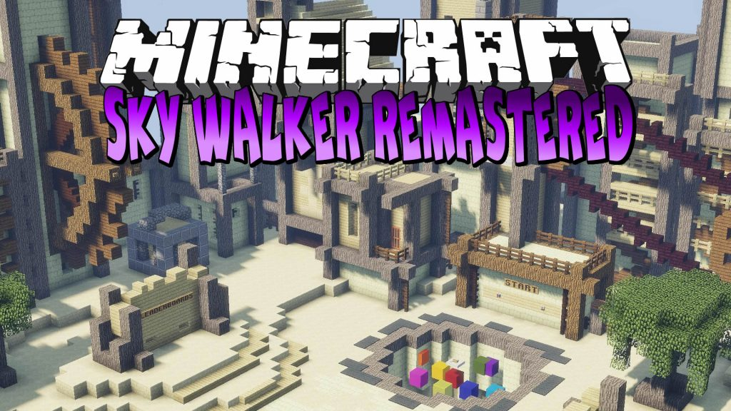 Sky Walker Remastered Map for Minecraft