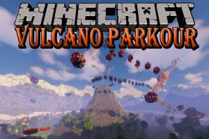 The Vulcano Parkour Map for Minecraft