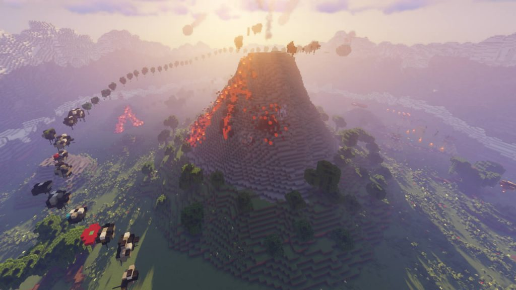 The Vulcano Parkour Map Screenshot 3
