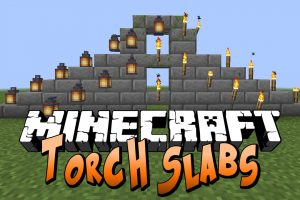 Torch Slabs Mod for Minecraft
