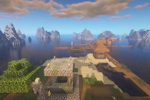 Village on a Lonely Island in the Ocean Seed for Minecraft
