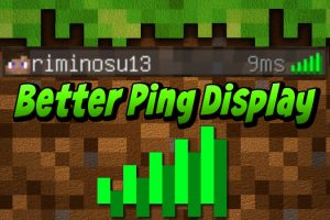 Better Ping Display Mod for Minecraft