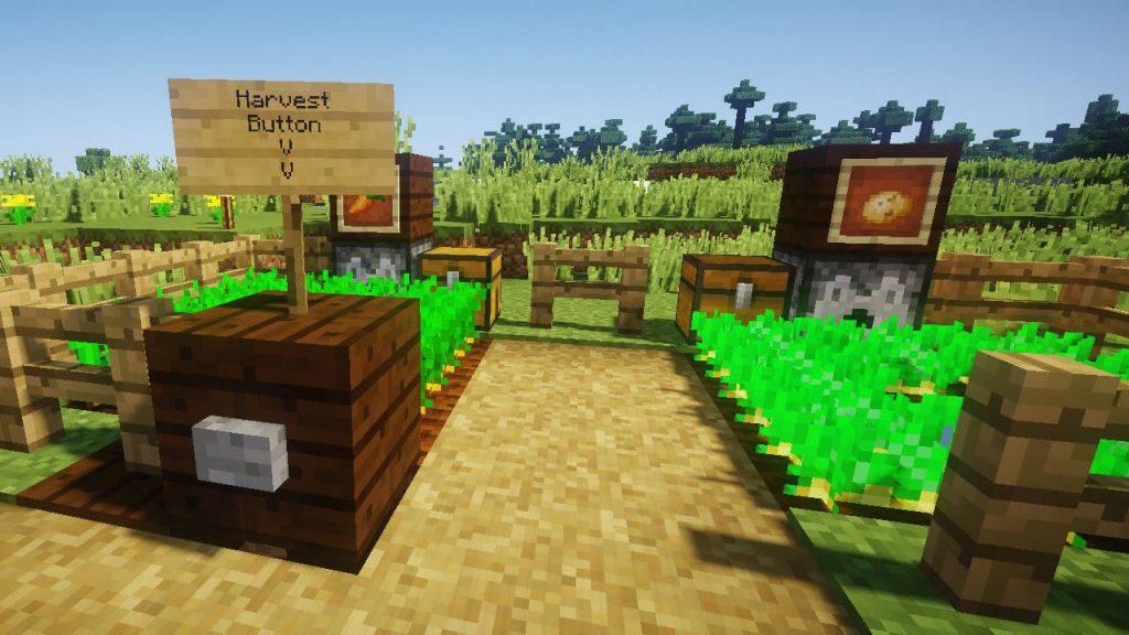 HarvestWithDispenser Mod Screenshot