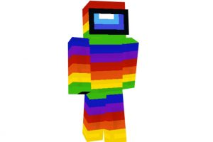 Among Us Multicolored Skin for Minecraft