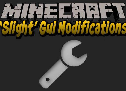 Slight Gui Modifications for Minecraft