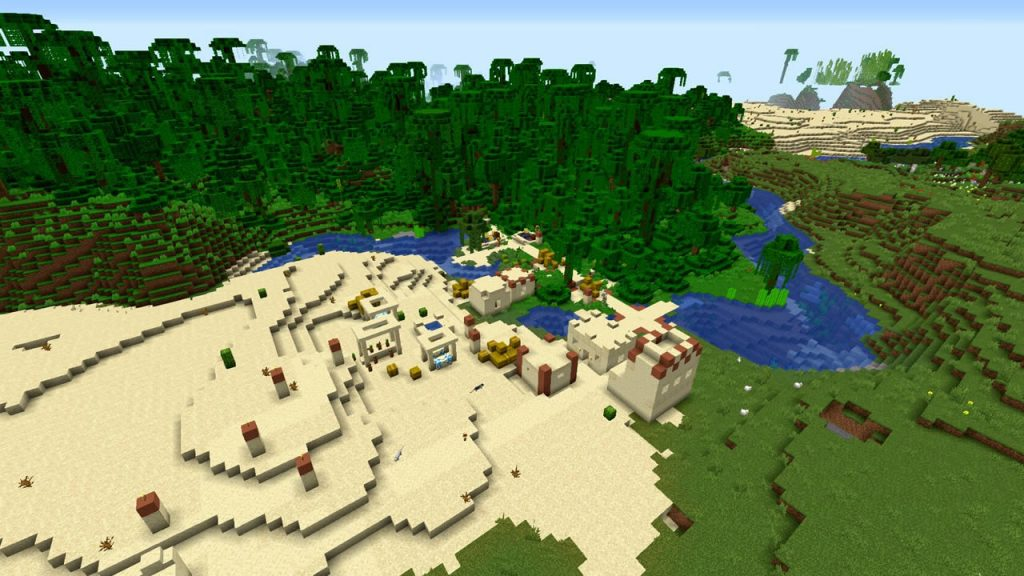 Villages Desert and Jungle Pyramids Seed for Minecraft